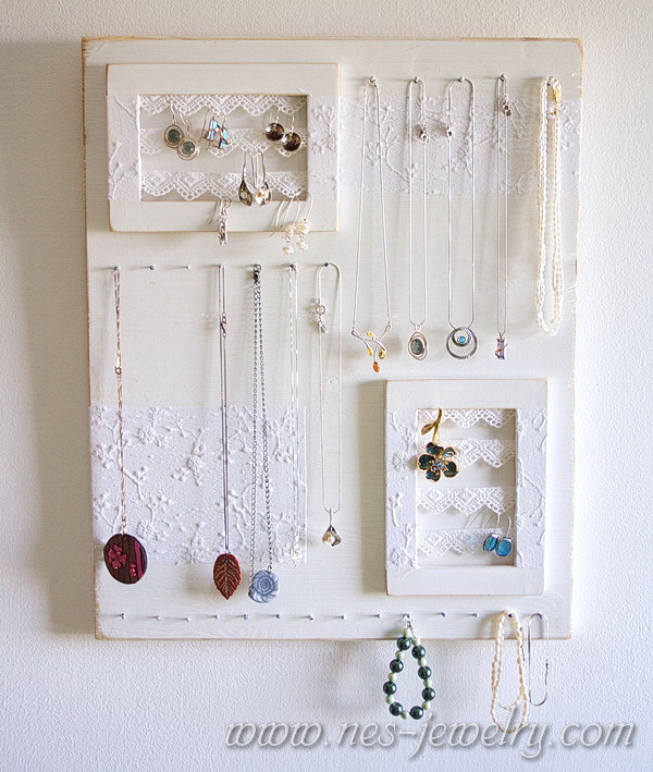 Diy Shabby : Shabby chic jewelry organizer DIY : I Love To Cook